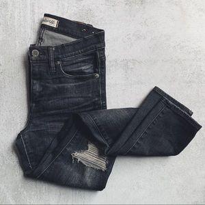 MADEWELL • high riser skinny black jeans